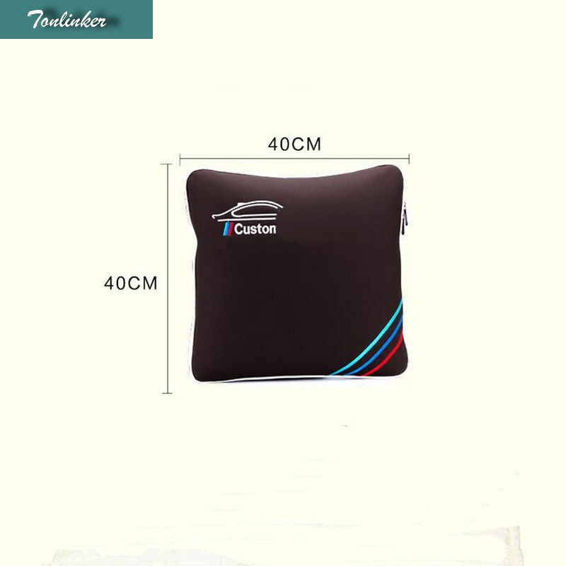 1 PCS Car New Cars Multifunction Dual Pillow Quilt Folded Pillow Car Cover Case For Bmw