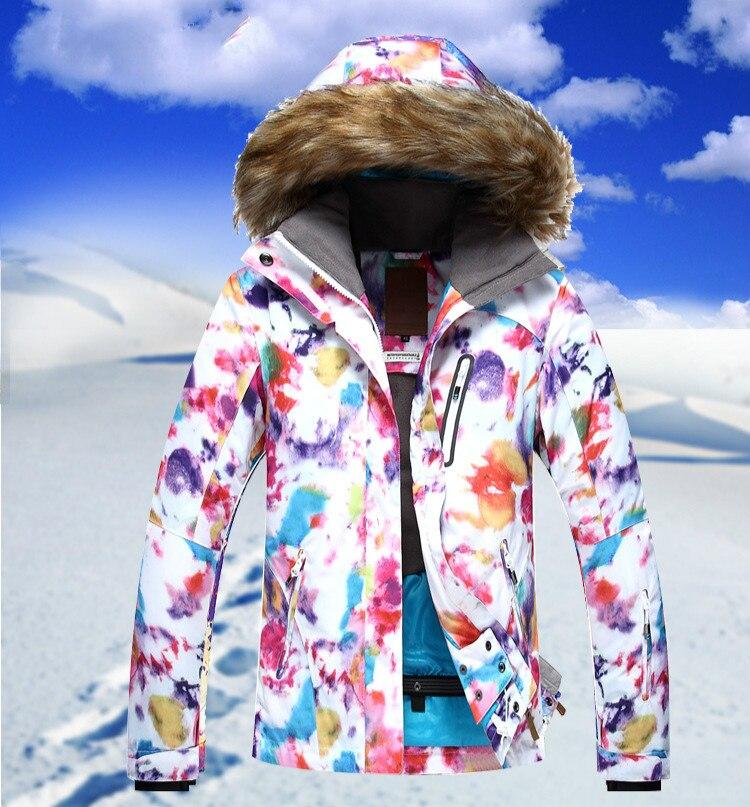 GSOU SNOW combinaison de Ski femme simple Double planche hiver extérieur chaud coupe-vent imperméable veste de Ski pour les femmes taille XS-L - 5
