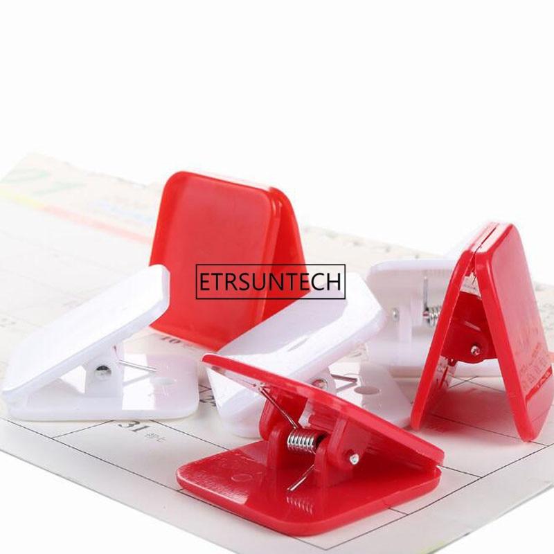 Square Plastic Clip Bookbinding Paper Clip Binder Clips Multicolor Home Office Storage Document Organizer