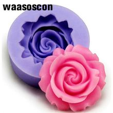 3D Rose Flower Fondant Cake Mold Silicone Mold Chocolate Sugarcraft Cookie Pie DIY Cutter Tools Baking Mould 47pcs flower sugarcraft cake mold fondant plunger rose leaf daisy cutter polymer clay mould diy baking tools kitchen accessories