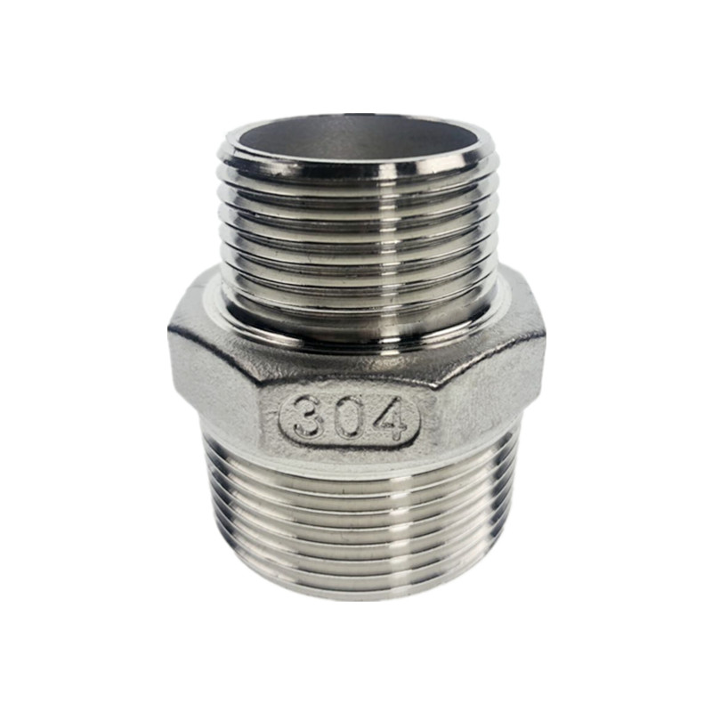 304 Reducer Stainless Steel Male Straight Jointer Pipe Connection Connector Fittings