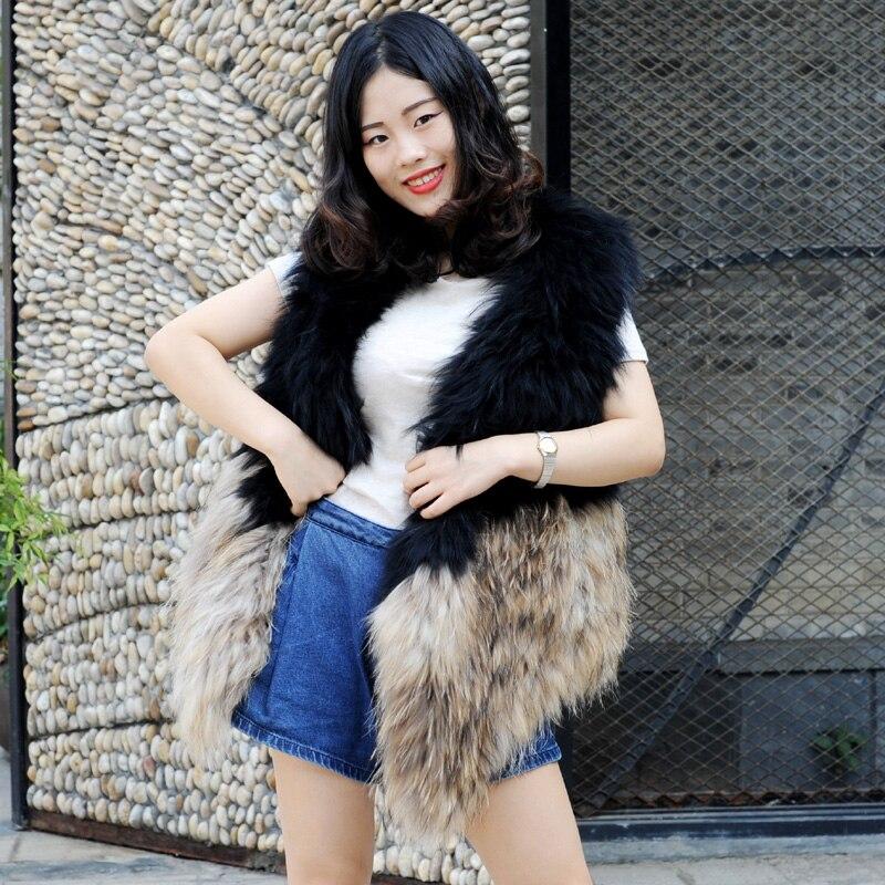 Les Laveur De Mode Fourrure Femmes g Gilet Véritable D'hiver Raton b Pour Cx rouge Noir Tricot 114a qg1OAwx0