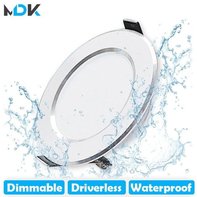 LED Downlight ניתן לעמעום 5 w 7 w 9 w 12 w 15 w עמיד למים חם לבן קר לבן שקוע LED מנורת ספוט אור AC220V 230 v