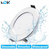 LED Downlight regulable 5W 7W 9W 12W 15W impermeable blanco frío empotrado foco LED para lámpara AC220V 230V