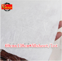 free shipping 50sheet/lot 69*138cm hand made Chinese xuan paper & rice paper for painting and decoupage
