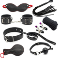 8 piece/pack adult games sex product for couples bondage restraint Set Handcuff Whip mask rope  erotic Toy Kit sex toy for woman