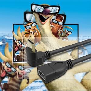 Image 5 - مقابل الزاوية اليمنى مصغرة HDMI ذكر إلى HDMI أنثى محول 90 درجة مصغرة HDMI محول كابل محول محول HDTV موصل