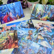 8pcs Lot Japanese Hand Painted Style Postcard Book Set Greeting Card Assorted