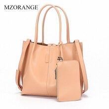 MZORANGE Bag Female Womens 100% Genuine Leather Bags Handbags Crossbody Shoulder Natural Bolsa Feminina Tote