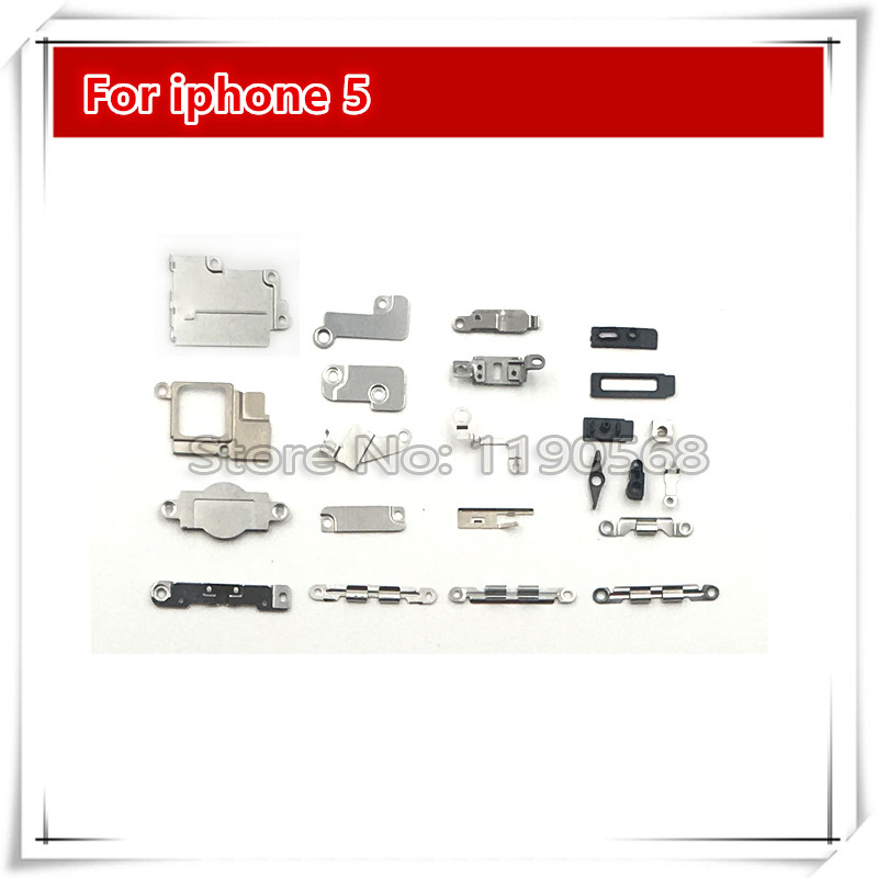 5Set/105Pieces Inner Accessories Inside Small Metal Parts Holder Bracket Shield Plate Set Kit For iPhone 5 5G Replacement Part
