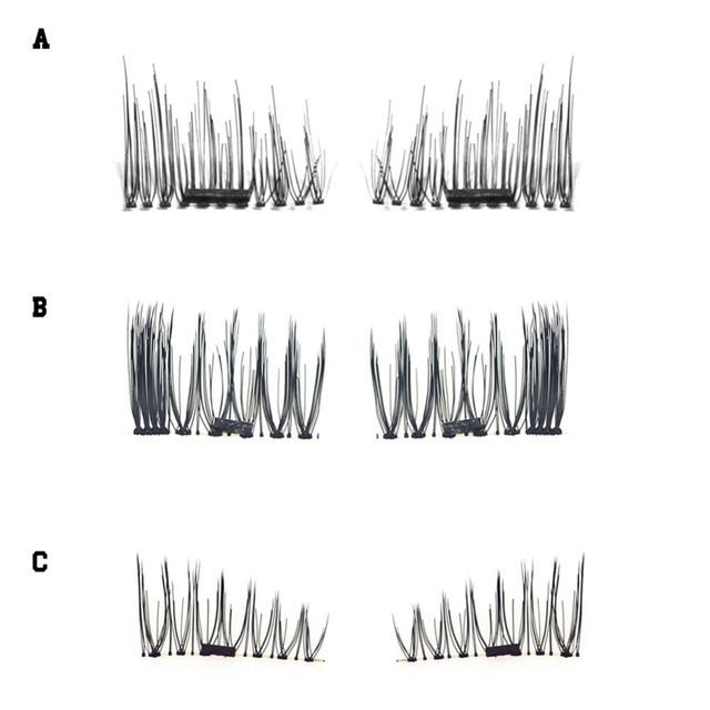 4pcs Magnetic Eyelashes Maquiagem False Lashes Magnetic Lashes False Eyelashes High Quality Makeup 3d Lashes Kit Set