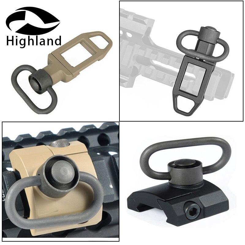 Tactical QD Release Sling Swivel Mount Sling Attachment QD Low Profile Ambush Loop Sling Swivel For Airsoft Keymod Handguard