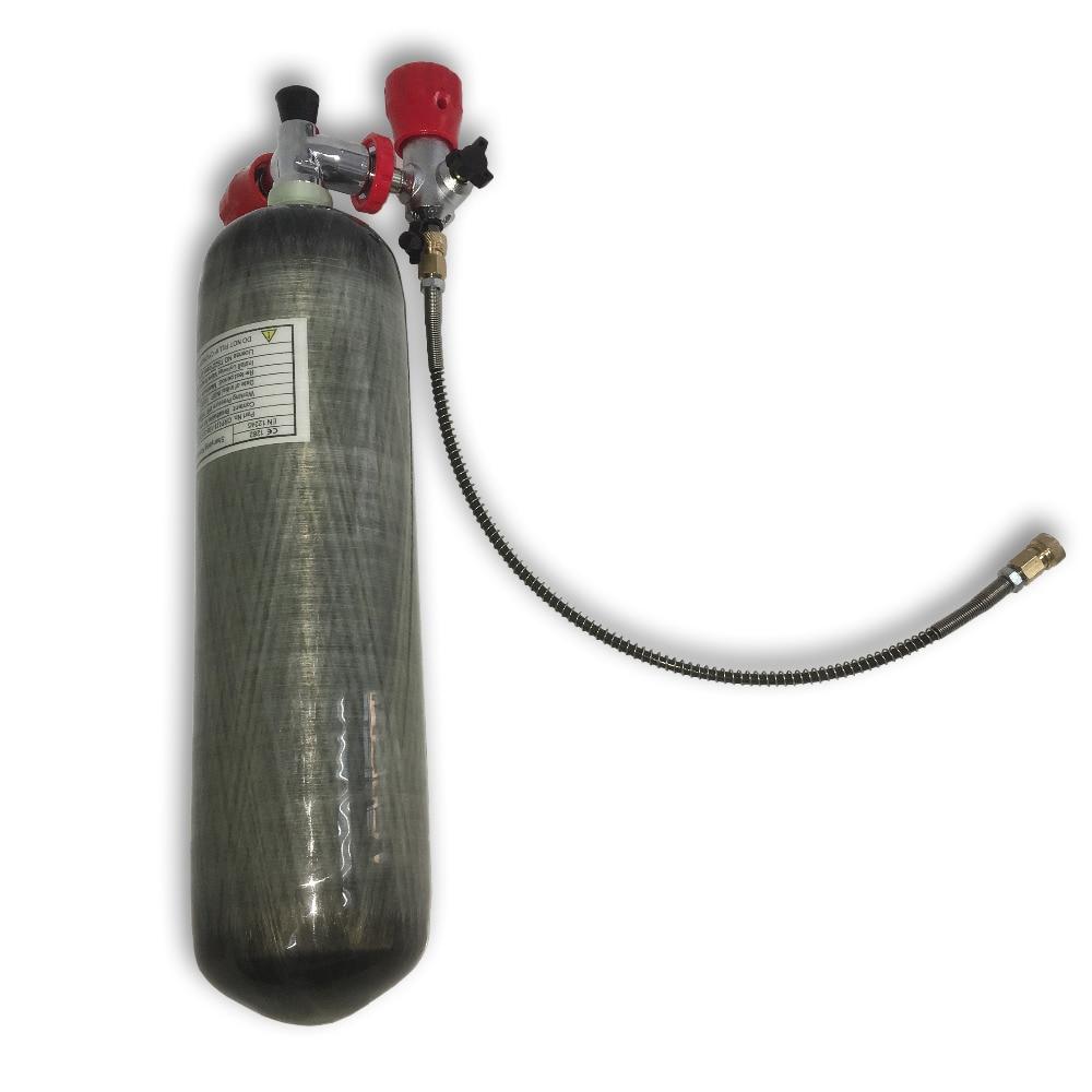 Купить с кэшбэком AC103101 3L Hpa Bottle Air Gun Paintball Tank 4500Psi Condor Scuba Pcp Diving Bottle Cylinder 300Bar Rifle Compressed Softgun