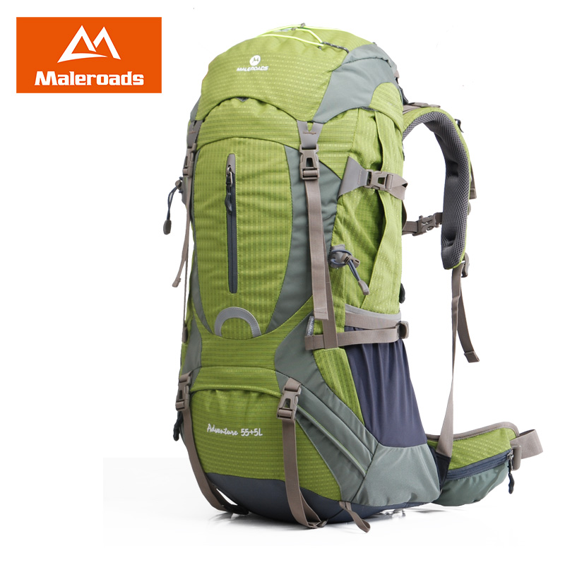 цена Maleroads 50L 60L Professional Mountaineering Climb Backpack Travel Mochilas Laptop Back Bags Camp Hike Equipment For Men Women
