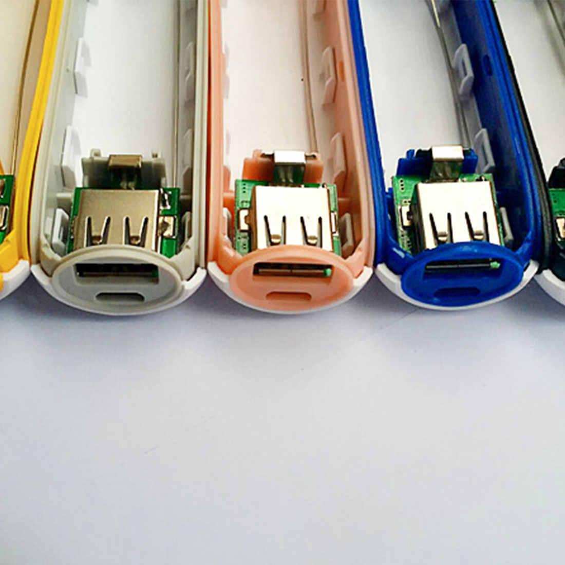 多色金属パワーバンク Diy キット収納ケースボックス送料溶接スーツ 1 × 18650 バッテリー 5V 1A USB 外部充電器電話