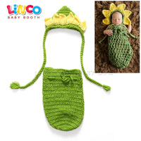 New Top Sale Minions Design Photography Props Newborn Baby Handmade Policeman Crochet Hat Diaper Set Infant