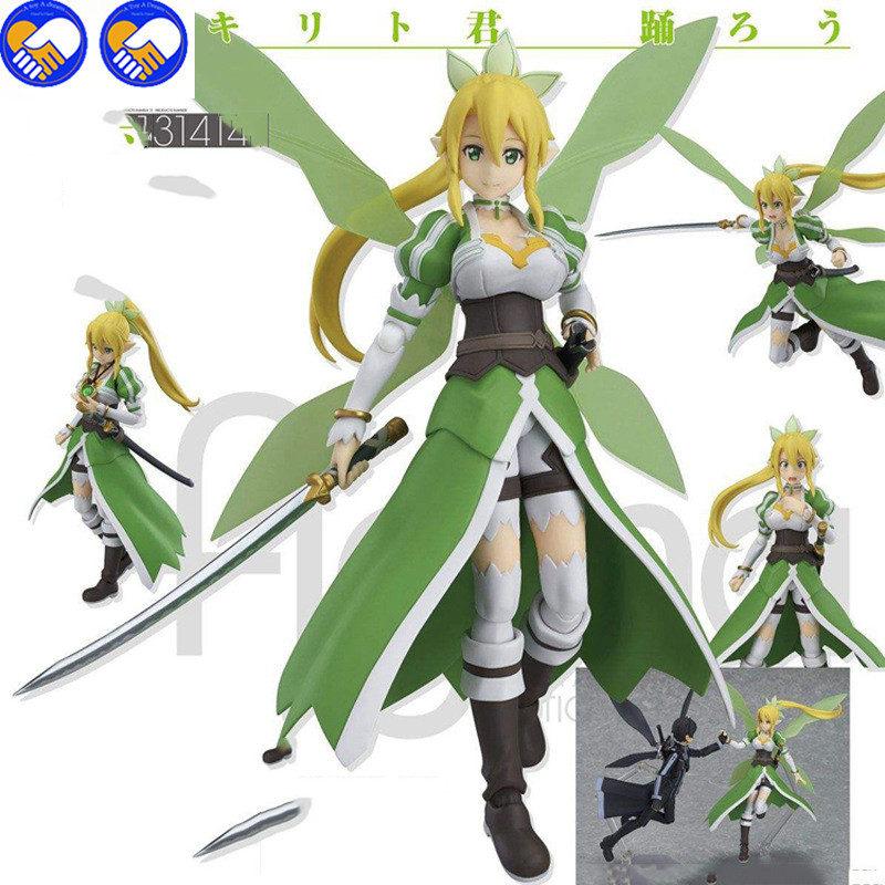 A toy A dream 14CM Japan Anime Sword Art Online  Flower Fairy  Leafa  Lovely girl PVC Action Figure Collectible Model Toy #314 nendoroid anime sword art online ii sao asada shino q version pvc action figure collection model toy christmas gifts 10cm