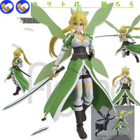 A toy A dream 14CM Japan Anime Sword Art Online Flower Fairy Leafa Lovely girl PVC Action Figure Collectible Model Toy #314