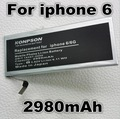 2980 mah batería de repuesto para apple iphone 6 6g iphone6 para apple 6 4.7 pulgadas iphone 6g 4.7 pulgadas