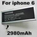 2980 mah batería de repuesto para apple iphone 6 6g iphone6 para apple 6 4.7 pulgadas iphone 6g 4.7 pulgadas