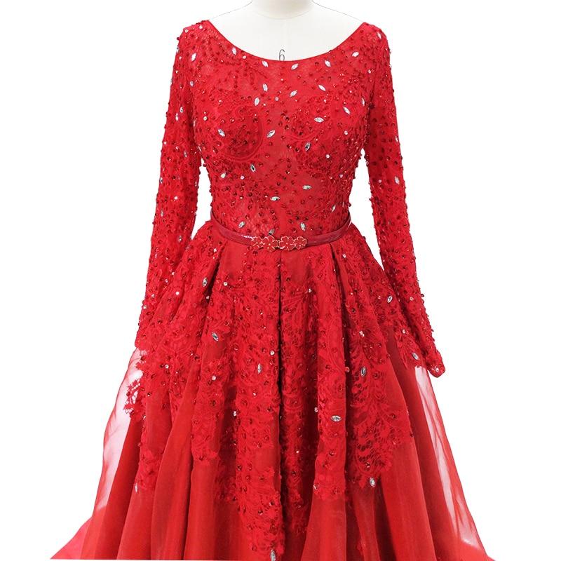 Saudiarabien Aftonklänningar 2018 Puffy Ball Gown Lång Ärmar - Särskilda tillfällen klänningar - Foto 5