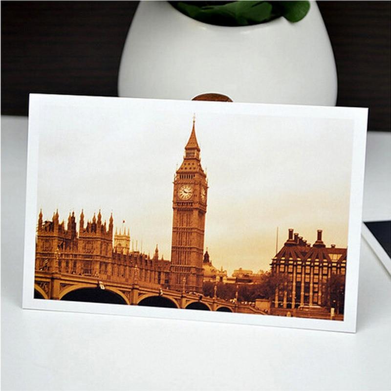 30 шт./упак. винтаж европейская архитектура почтовые