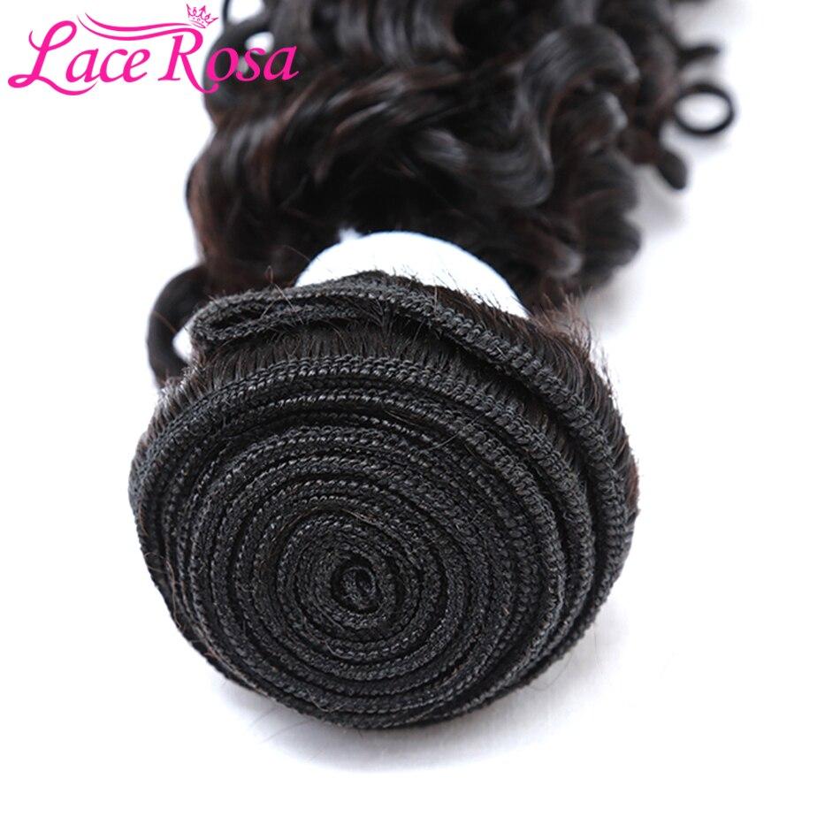 Peruvian Hair Bundles Deep Wave 1/3/4 Pieces Non Remy Human Hair Weave Lace Rosa Hair 8-28 Inches Human Hair Bundles