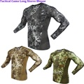 Outdoorbionic python pattern Camo Top Slim Quick-drying long-sleeve sweat absorption breathable tactical training tatico T-Shirt