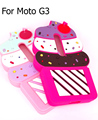 Fundas Capas case conque For Motorola G3 3D anime ice cream cartoon soft silicone back cover for free shipping