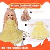 OUENEIFS 1/6 BJD девочка кукла для постановок Rita + парик + красивая одежда + скидка в сочетании посылка модные каучуковые фигурки