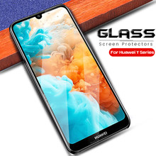 protective glasse for huawei y9 prime 2019 screen protector safety glass for huawei y9 y7 y6 y5 prime pro 2019 sheet film steklo(China)
