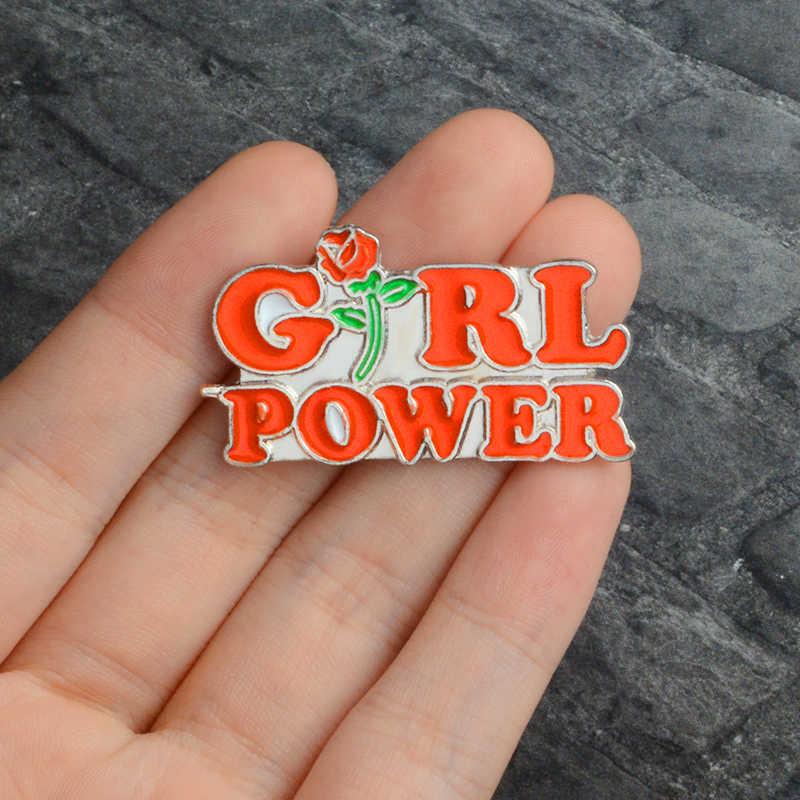 Feminisme Liberal Hore! Wanita Feminis Motivasi Wanita Merah Mawar Girl Power Rahim Aku Melakukan Apa Yang Saya Inginkan Enamel Bros Pin
