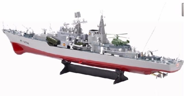 Ems gratis RC barco desintegradores Destroyer 1 : 275 escalas acorazado modelo Control remoto alta simulación RC juguetes buque de guerra