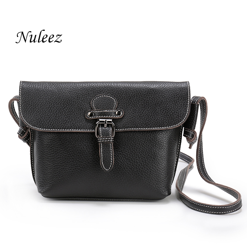 Nuleez Women Summer Bag Real Leather Bag Cross Body Ladies Genuine Leather Handbags Small Messenger Bags