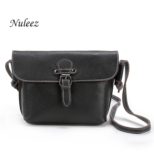 Nuleez cross-body bag women  Real Leather Bag  Ladies Genuine cowhide Handbags Small Messenger Bags promotion price 1204