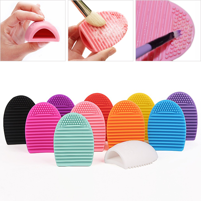 BBL 1 Piece Makeup Brush Cleansing Silicone Glove Brush Egg Cleaner Makeup Brushes Washing Scrubber Board Cosmetic Clean Tools