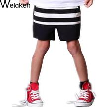 New Arrival 2016 Children Shorts Black Striped Casual Kids Bottom Trousers Baby Boy Clothes Summer Boy Shorts