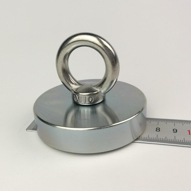 300 кг одной стороны большой сильный магнит супер сильный неодимовый магнит реки Рыбалка магниты магнитный инструмент Охота за сокровищами ...