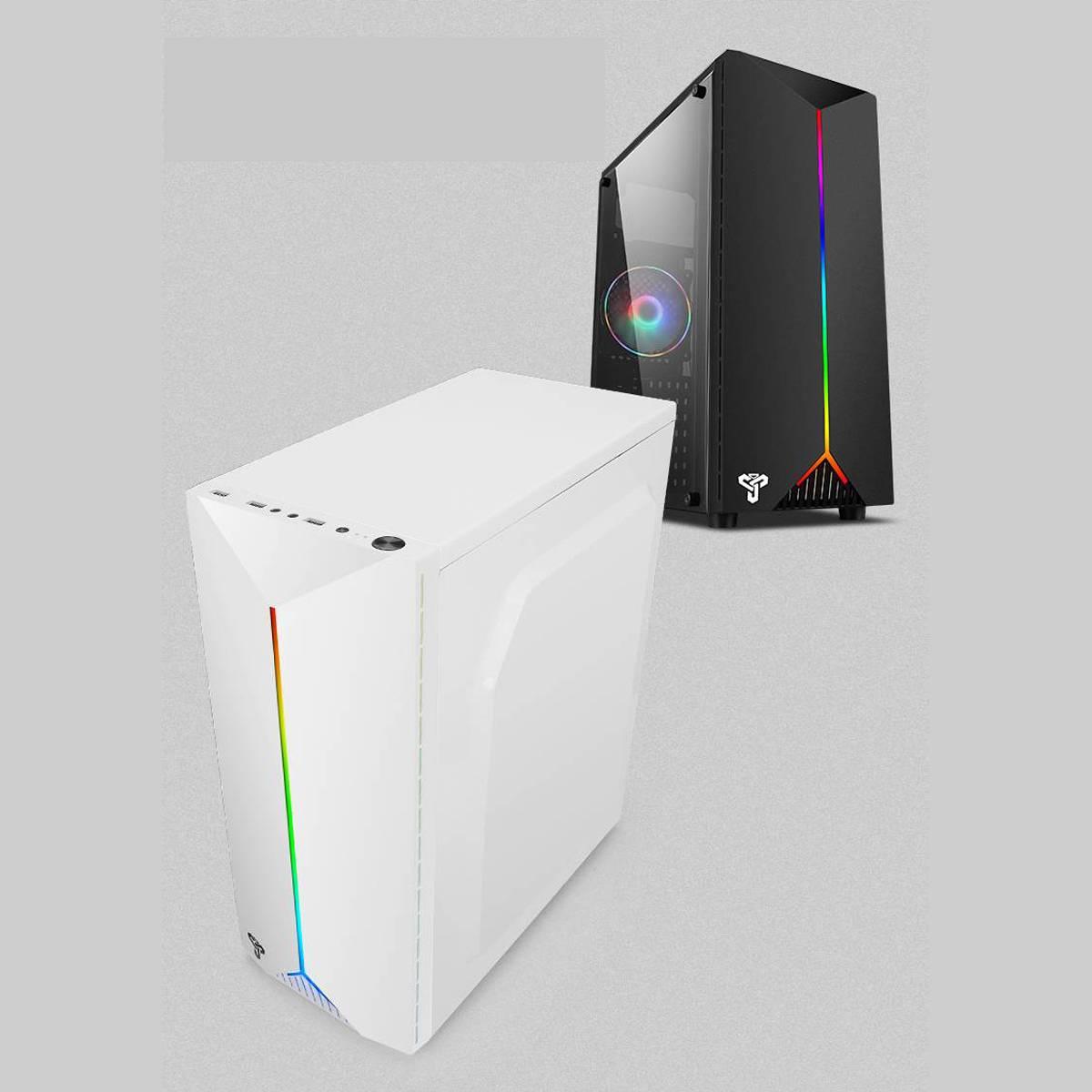 LEORY Gaming Pc boîtier acrylique Transparent panneaux latéraux concours électrique jeu avec RGB ceinture support USB3.0 4 ventilateur de refroidissement - 6