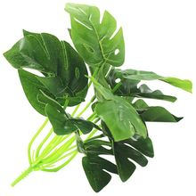 12 Heads Artificial Plants Tropical Green Turtle Leaves Leaf Bouquet Garden Home Mexican Autumn Decoration