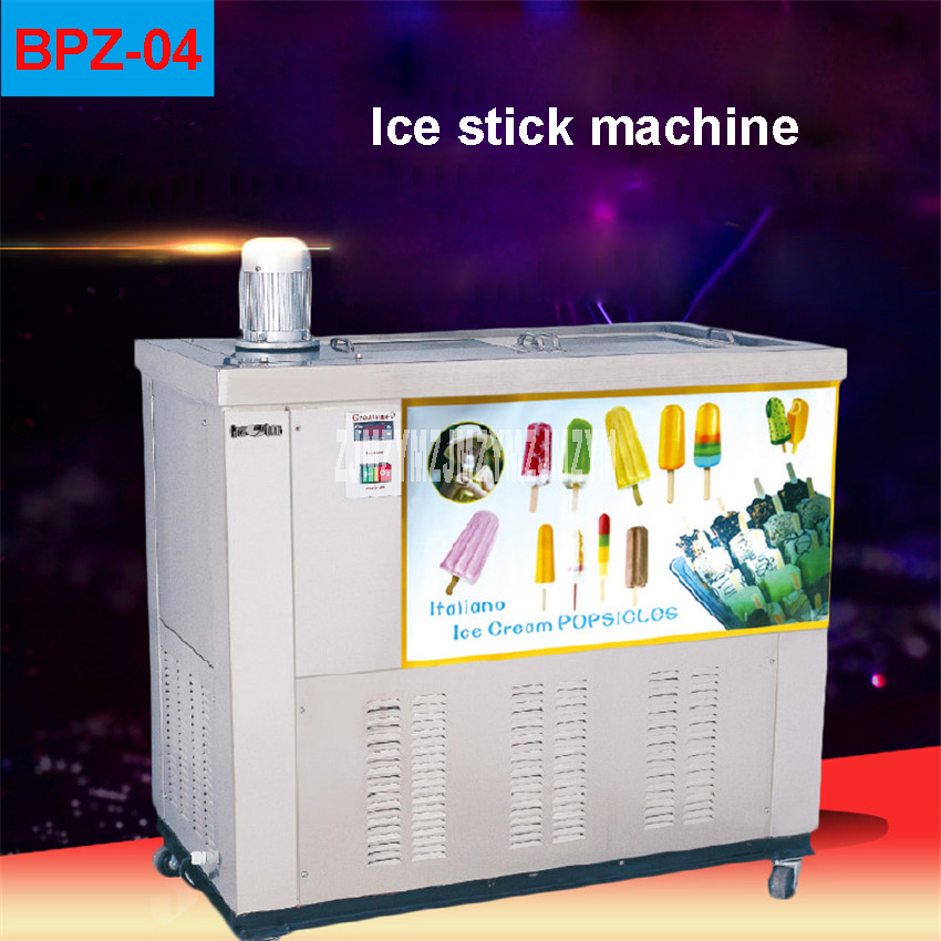 BPZ-04 3000W Commercial Popsicle Machine 16000pcs/day Stainless Steel 50Hz 220V Fast fruit ice stick machine Ice Cream Makers 100 120pcs h stainless steel commercial popsicle machine ice cream lolly stick machine hard ice cream maker zx40a 220v 110v hot