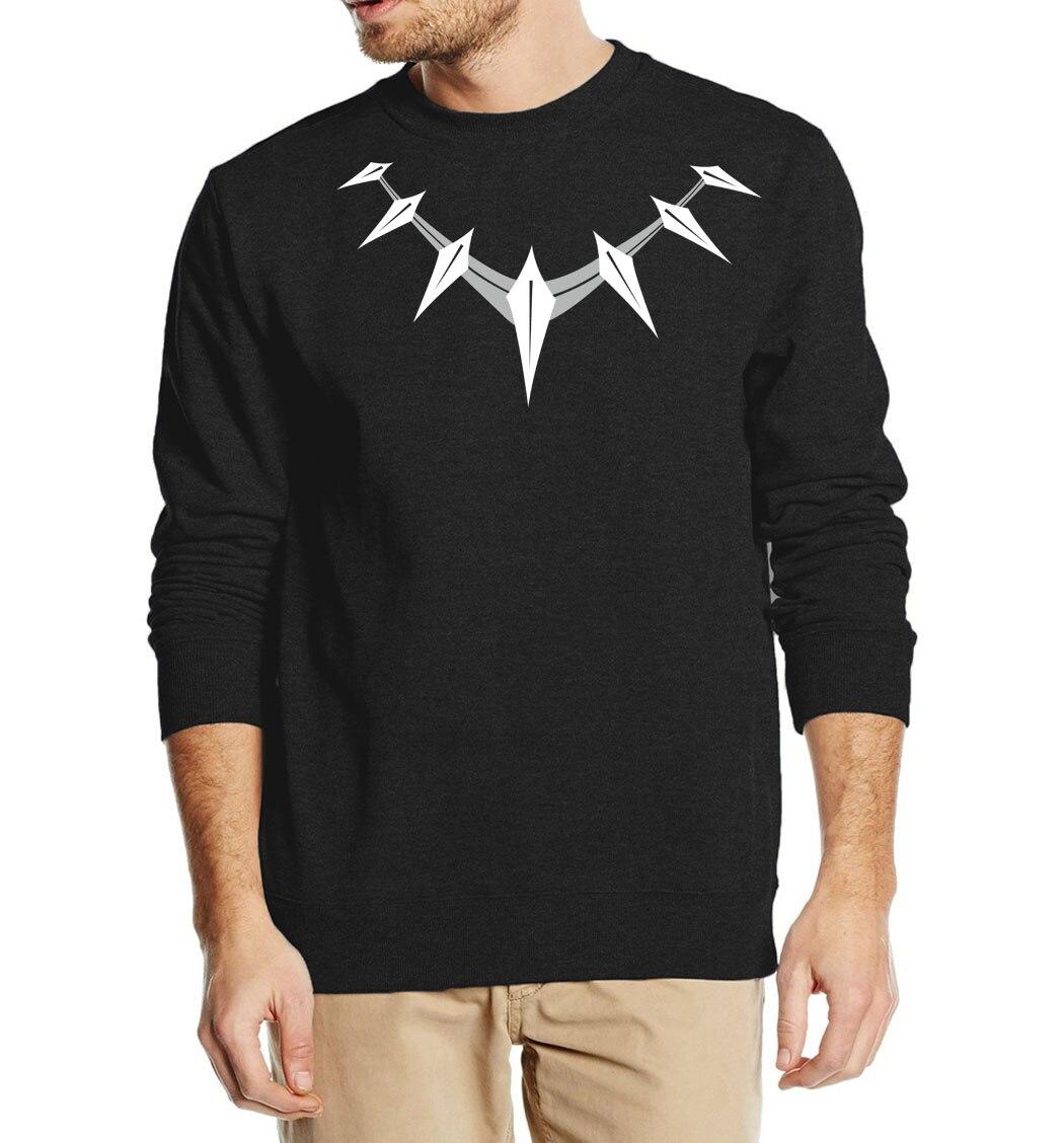 Black Panther Sweatshirts Men 2019 Hot Sale Autumn Winter Hooded Men's Casual Warm Fleece Hoodies Hip Hop Streetwear For Fans