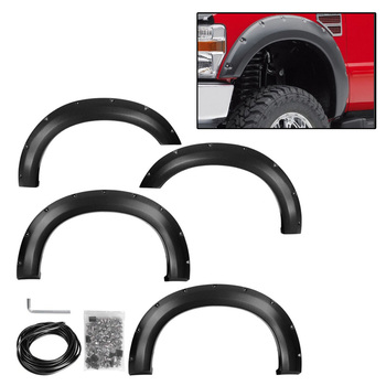 Wheel Eyebrow Fender Flares Proof Cover Guard Mudguards Protector Trim Set For Ford F-250 F-350 Super Duty 2008-2010 Body Kits