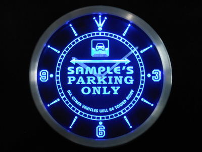ncqo-tm Name Personalized Custom Car Parking Only Bar Beer Neon Sign LED Clock Wholesale Dropshipping
