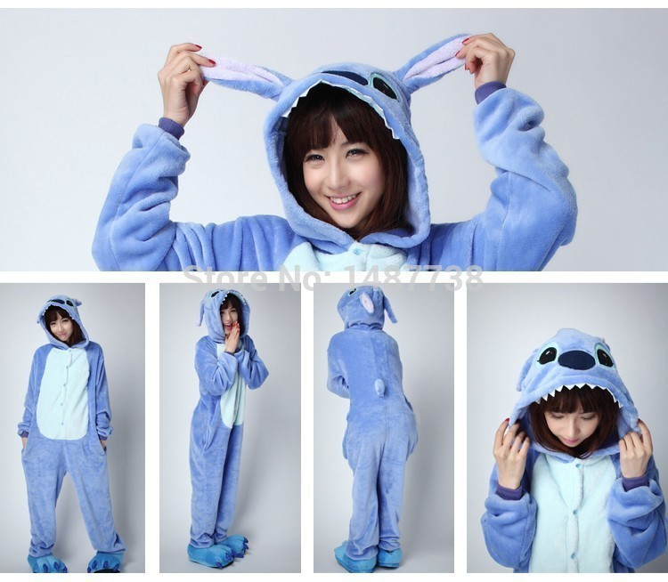 Kigurumi Animal Stitch Onesie Unisex Kostüme Sleepsuit Adult Cartoon - Kostüme - Foto 2
