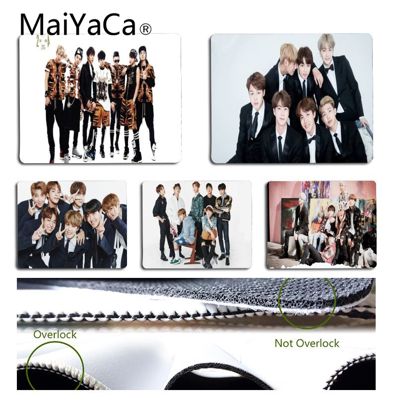 MaiYaCa Hot Sales Bangtan Boys Mouse Pad For Laptop Laptop Gaming Mice Mousepad