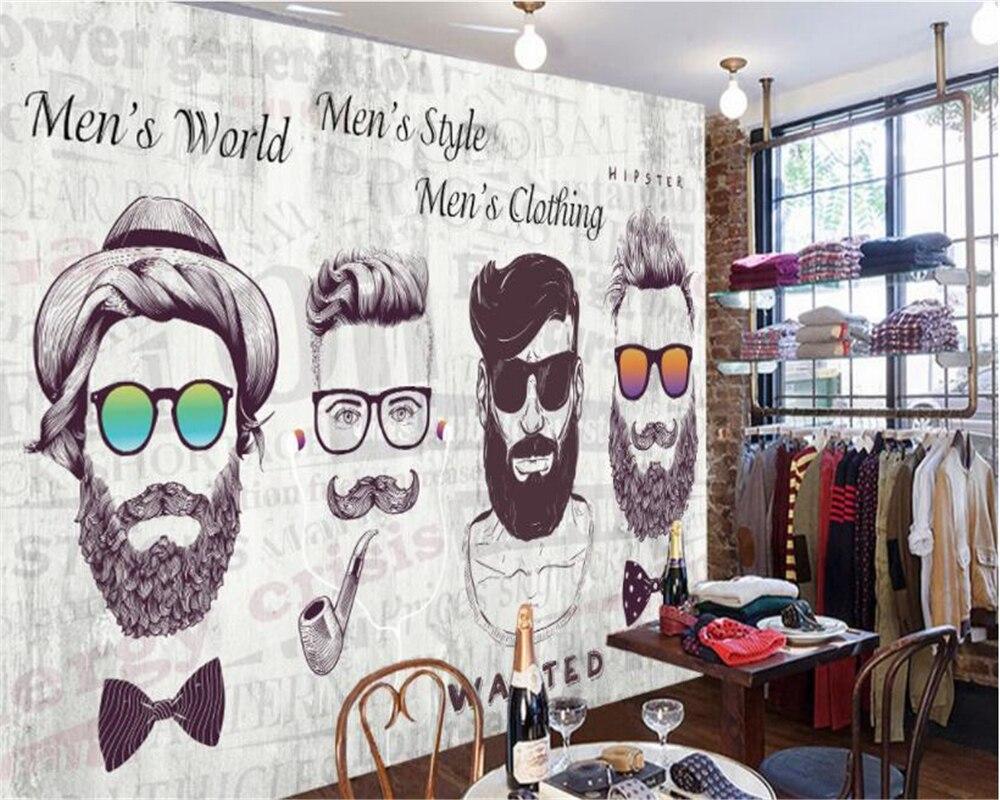 Beibehang Mode behang knappe man trendy persoonlijkheid slaapkamer ...