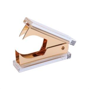 Image 5 - Akrylowe złote nożyczki i zszywacz wysokiej jakości akrylowe zszywacze
