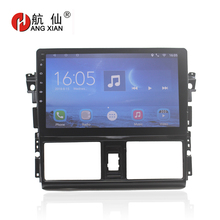 Bway 10.1 2 din Car radio stereo for Toyota Vios 2014-2016 Quadcore Android 7.0 car dvd player gps navi with 1 G RAM,16G ROM