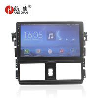 Bway 10.1 2 din Car radio stereo for Toyota Vios 2014 2016 Quadcore Android 7.0 car dvd player gps navi with 1 G RAM,16G ROM